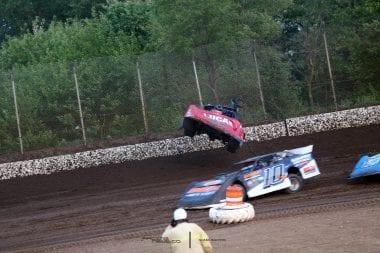 Earl Pearson Jr Flip at LaSalle Speedway 6562