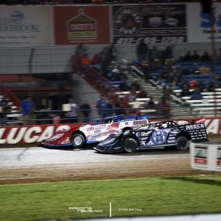 Earl Pearson Jr Scott Bloomquist Lucas Oil Speedway Show Me 100 Race 8878