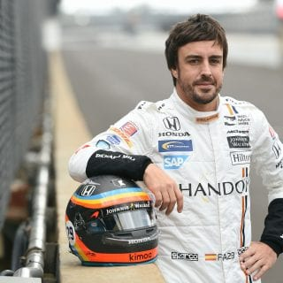F1 driver in Indy 500 event
