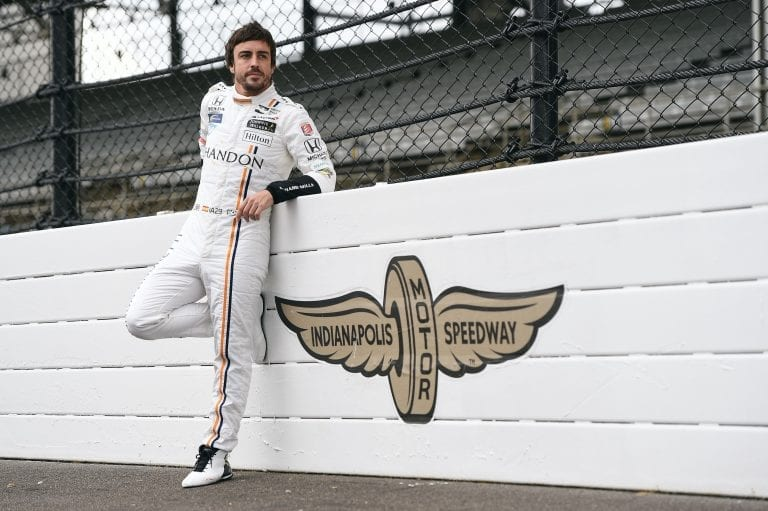 Fernando Alonso Indianapolis Motor Speedway Portrait