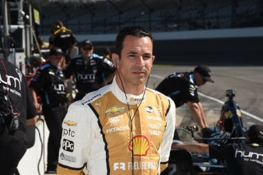 Helio Castroneves Indianapolis Motor Speedway