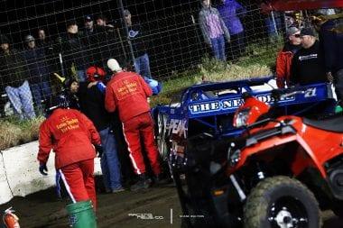 Hudson O'Neal Crash at I80 Speedway 7936