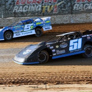 JOEY MORIARTY and Randy Timms in Show Me 100 at Lucas Oil Speedway 0117 copy