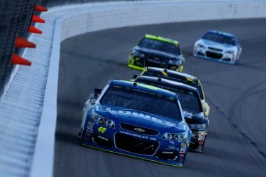 Jimmie Johnson Kasnas Speedway results 2017