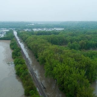 Peoria, IL Flooding photos from drone