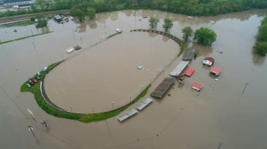 Peoria Speedway Flood Photos