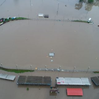 Peoria Speedway Flood Photos from the air