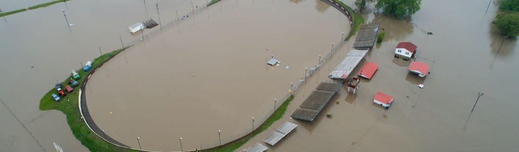 Peoria Speedway Flood Puts Dirt Track Underwater