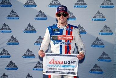 Ryan Blaney First Career Pole Wood Brothers Racing - Kansas Speedway
