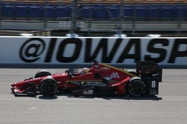 Sage Karam at Iowa Speedway
