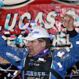 Scott Bloomquist Lucas Oil Victory Lane Photo - Florence Speedway 5522