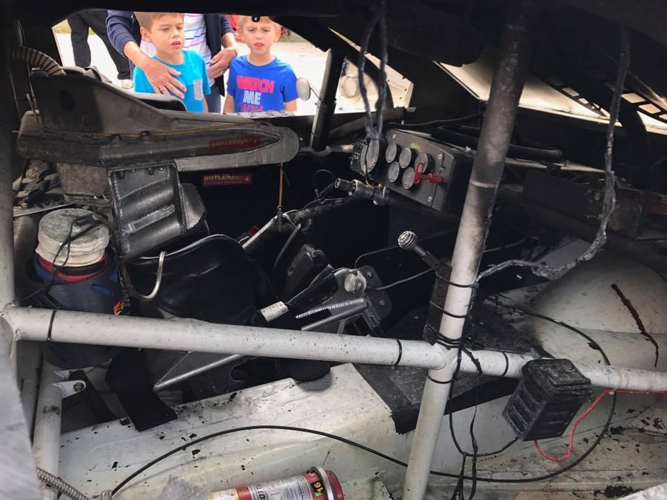 Toledo Speedway ARCA Fire