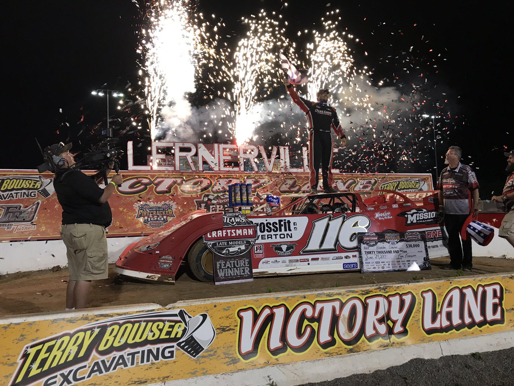 Brandon Overton wins the 2017 Firecracker 100
