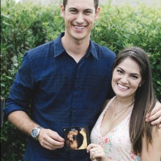 Brittany and Joey Logano