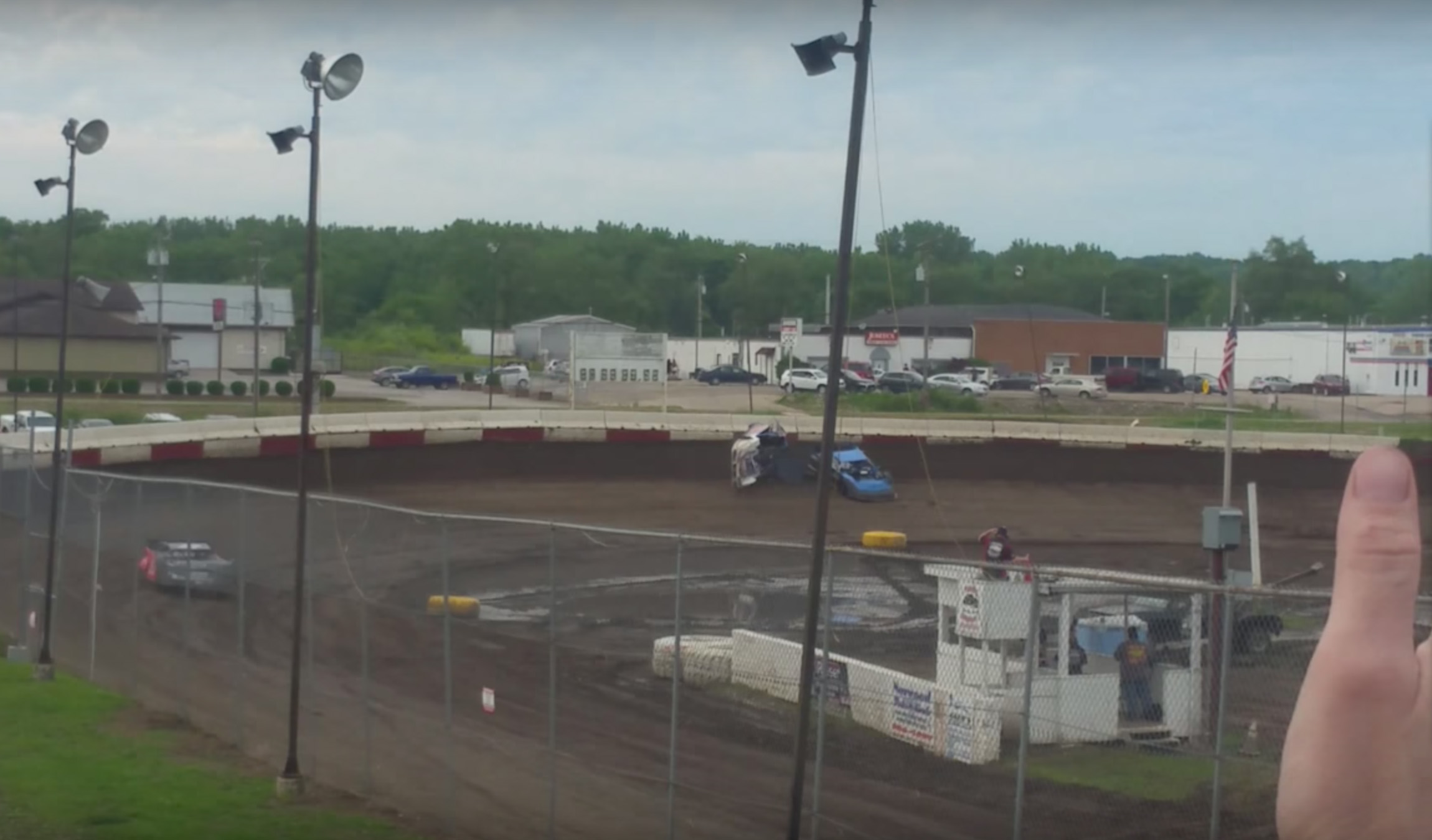 Chris Morefield Dirt Late Model Crash at Peoria Speedway