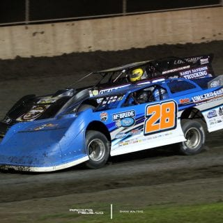 Dennis Erb Jr and Chris Simpson at Tri-City Speedway 2978