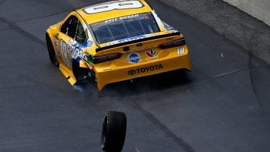 Dover NASCAR Penalties - Kyle Busch Loose Wheel Penalty