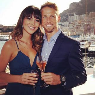 Jenson Button Girlfriend Pose in Monaco