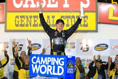 John Hunter Nemechek in NASCAR Camping World Truck Series Victory Lane