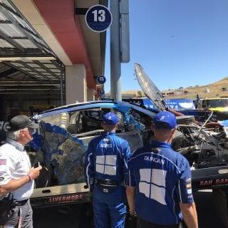 Kasey Kahne Crash at Sonoma Raceway
