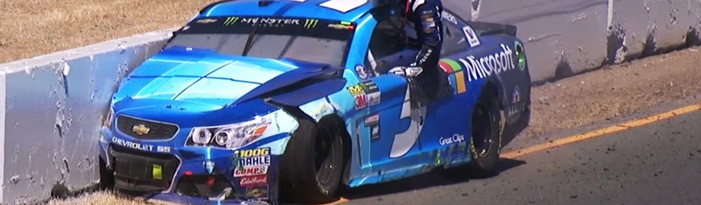 "Kasey Kahne on Sonoma Crash: ""He panicked & turned right instead of left"""