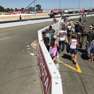 Kasey Kahne hit wall at Sonoma Raceway