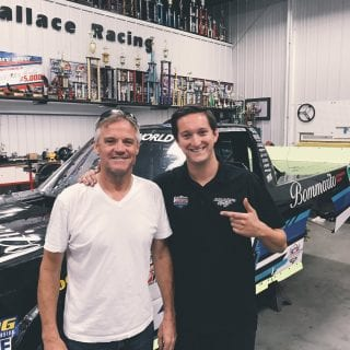 Kenny Wallace and Jordan Anderson