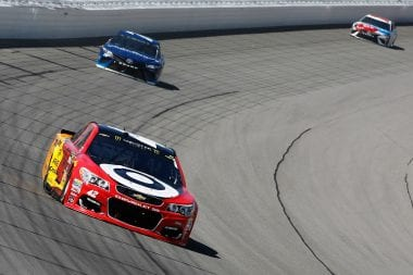 Kyle Larson in the Monster Energy NASCAR Cup Series race at Michigan International Speedway