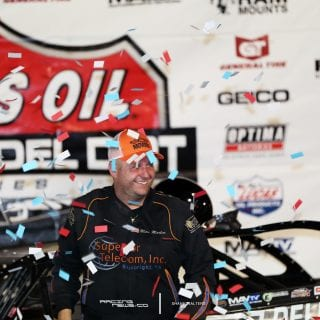 Mike Marlar wins Lucas Oil Late Model Dirt Series event at The Mag 2417