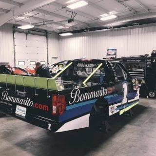 NASCAR Camping World Truck inside Dirt Racing Shop