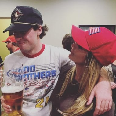 Ryan Blaney First Win Party - Ryan Blaney and Amy Earnhardt
