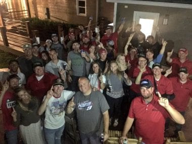 Ryan Blaney Party Photos - First Win Celebration