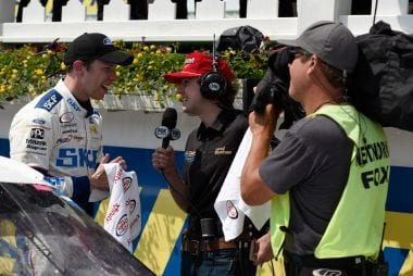Ryan Blaney Victory Lane Interview - Fox Sports All Driver Cast