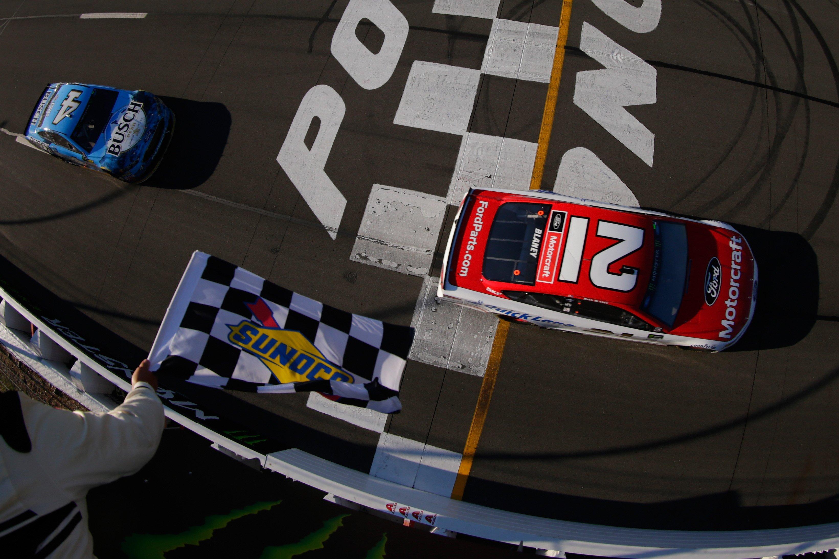 Ryan Blaney wins at Pocono Raceway
