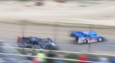Scott Bloomquist and Brandon Sheppard Race at Plymouth Speedway