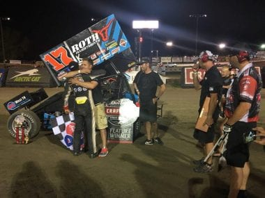 Stenhouse Jr Wood Racing First World of Outlaws Win
