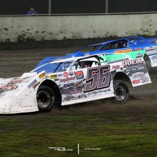 Tim Manville and Dennis Erb Jr at Tri City Speedway Summer Nationals 3004