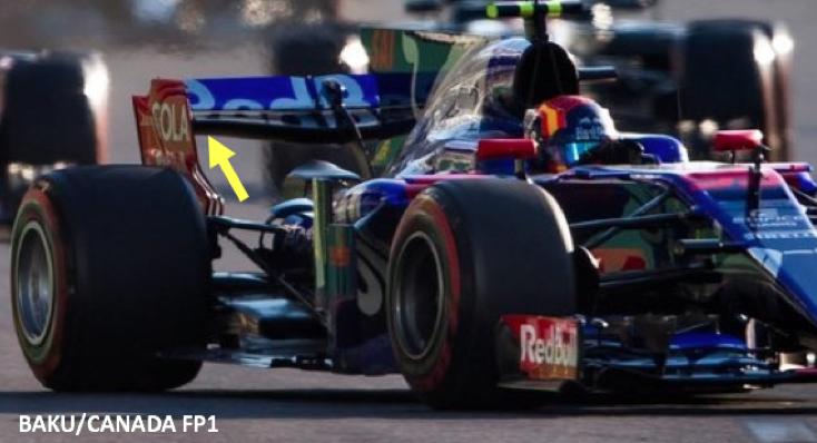 Toro Rosso Rear Wing