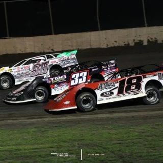 Tri-City Speedway 3 Wide Photo 2922