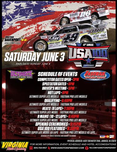 USA 100 at Virginia Motor Speedway