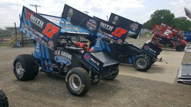 World of Outlaws #17 Stenhouse Jr Wood Racing Sprint Cars