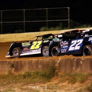 Chris Ferguson and Gregg Satterlee at Fayetteville Motor Speedway 6288