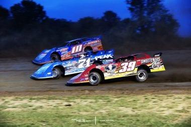 Eddie Carrier Jr Hudson O'Neal Tim McCreadie at Muskingum County Speedway LOLMDS 5726