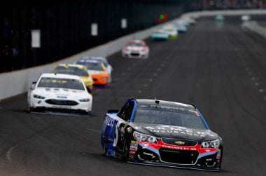 Kasey Kahne Overtime Line finish at Indianapolis Motor Speedway