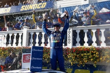 Kyle Busch Pocono Raceway victory lane