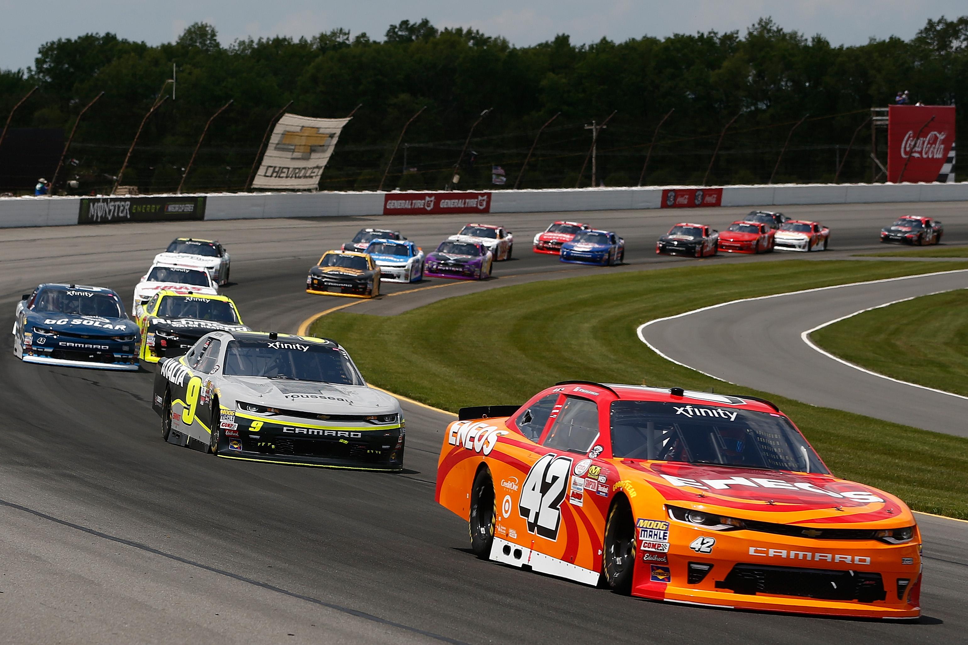 Kyle Larson Xfinity Series racing