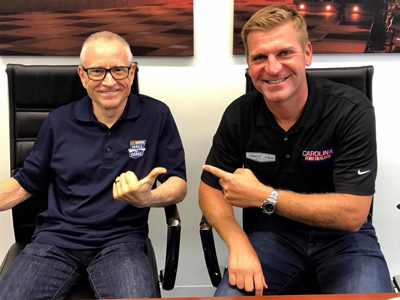 Mark Martin and Clint Bowyer