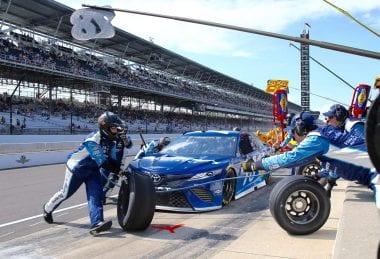 Martin Truex Jr crew at Indianapolis Motor Speedway