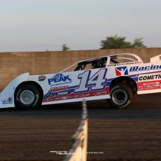 Matte White Dirt Late Model - iRacing 8023