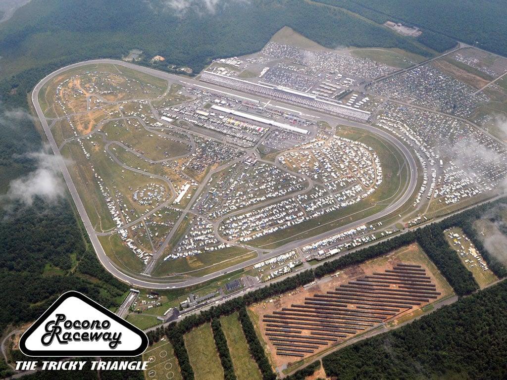 Pocono Raceway Aerial Track Photo
